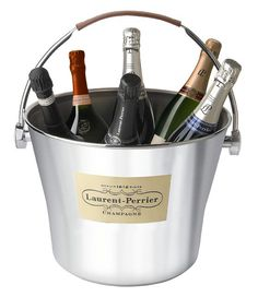 huntforwine.com.au by Cellar d'or - LAURENT-PERRIER Stainless Steel Ice Bucket LARGE, $250.00 (http://www.huntforwine.com.au/accessories/laurent-perrier-stainless-steel-ice-bucket-large/)