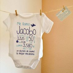Body baby. My first Body. Custom body. Gift at birth. Newborn. Special  gift. Personalized gift. Christening gift. Regalos Bautizo NiñoFrases  Nacimiento De ... 957b5f70b41