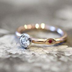 Pt,K18PG/ダイヤモンド、ルビー / engagement ring [婚約指輪,エンゲージリング,ウエディング,wedding ring,platina,gold,diamond,ruby]