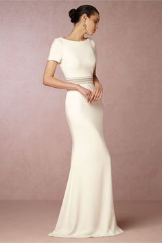 BHLDN's Badgley Mischka Alice Gown in Ivory