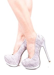 Silver rouched shoes