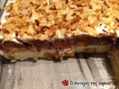 Είναι ένα εύκολο, ελαφρύ και πεντανόστιμο γλυκό ψυγείου, μία παραλλαγή της Ζακυνθινής Φρυγανιάς!!