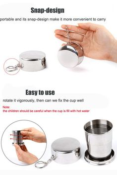 New Stainless Steel Portable Outdoor 75ml Telescopic Collapsible Folding Cup