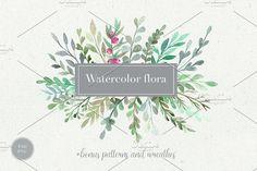 Watercolor flora. Styled collection. by Bang Bang Bureau on @creativemarket