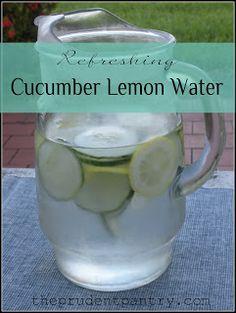 The Prudent Pantry: Refreshing Cucumber Lemon Water