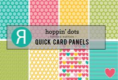 Quick Card Panels: Hoppin' Dots. Reverse Confetti February 2016 product release.