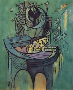 Maternidad en verde. 1942.