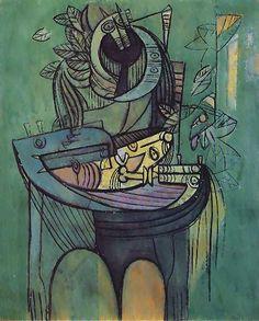 La maternidad en verde, Wilfredo Lam