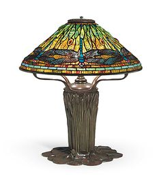 A DRAGONFLY TABLE LAMP, CIRCA 1910