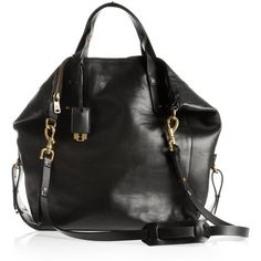 McQ Alexander McQueen Stepney leather tote ($1,020) ❤ liked on Polyvore