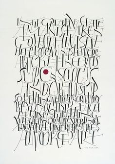 from http://www.calligraphy.ie Write Now page Calligraphy by Hiroko Shizimu
