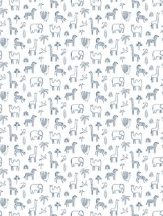 Funky Jungle Wallpaper - Navy - By Harlequin - 112630 Feature Wallpaper, Fashion Wallpaper, Order Up, Free Delivery, Colours, Navy, Hale Navy, Old Navy, Navy Blue