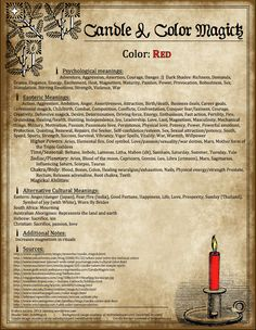 Candles: #Candle & #Color #Magick ~ Red.