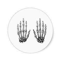 2 Hands Up White Sticker