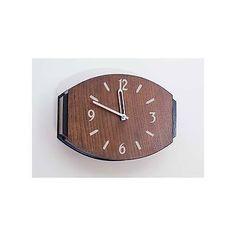 An Art Deco Lozenge-Shaped Oak Wall Clock