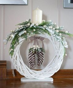Best 11 One of my favorite discoveries at WorldMarket.com: White Faux Fur Wreath with Owl – SkillOfKing.Com