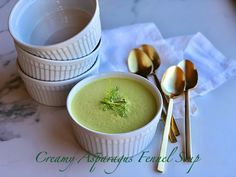 Creamy Asparagus Fennel Soup is the perfect soup to usher in spring.  It's bright in flavor and color and oh so easy to make.