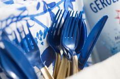 DIY painted plastic cutlery