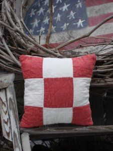 :) pillow made from an old quilt