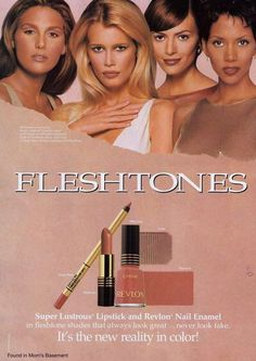 1997 Revlon ad with Daisy Fuentes, Claudia Schiffer and Halle Berry, after Veronica Webb was unceremoniously dumped. Vintage Makeup Ads, Retro Makeup, Vintage Beauty, Vintage Ads, Beauty Ad, Beauty Makeup, Beauty Products, Makeup Tips, 1990s Makeup