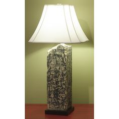 Asian Table Lamps Stone Buddha Table Lamp With Shade Asiantablelamps 27X14X14 $339
