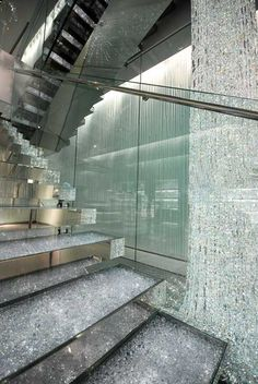 Swarovski Ginza store by Tokujin Yoshioka. . this is real! wow can u imagine how much that waterfall of crystals alone is worth!! holy cow!