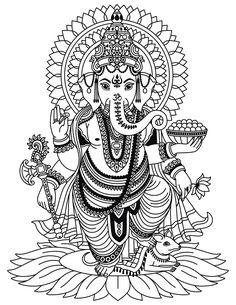 Ganesha Tattoo Mandala, Arte Ganesha, Ganesha Drawing, Lord Ganesha Paintings, Mandala Art Lesson, Mandala Drawing, Elephant Tattoo Design, Elephant Tattoos, Shiva Tattoo Design