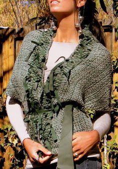 Vero Amore Tejidos Artesanales Color Uva, Kimono Top, Ruffle Blouse, Crochet, Women, Fashion, Silk Wool, Wool Scarf, Gray Dress Outfit