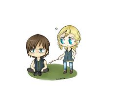 Daryl with Beth - I offically ship these two now! Lol, it was so cute watching Daryl act like a school boy around her in the last episode <3