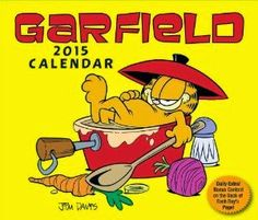 #Garfield 2015 Day-to-Day Calendar - A #funny day-to-day calendar with full-color Garfield comic strip on every page. The cartoons in this daily calendar about the self-centered, lasagna-loving, fat cat and his funny friends - Liz, Jon and Odie - provide great humor each day.