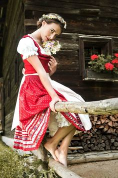 Cute red dirndl