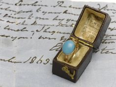 Jane Austen's turquoise ring............Quite on the right timing, Jane Austen's turquoise ring was sold at an auction today for a massive £152, 450. The bidding was won by the first American Idol winner, Kelly Clarkson.........beautyqueenfromars.files.wordpress.com...............via sharonwrites.net