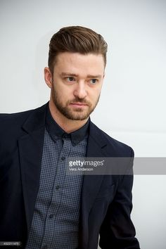 Justin Timberlake at the 'Inside Llewyn Davis' Press Conference at the Four Seasons Hotel on November 25, 2013 in Beverly Hills, California.