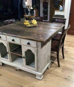 from buffet to rustic kitchen island, kitchen design, repurposing upcycling, rustic furniture, to this gorgeous rustic kitchen island furniture buffet How to Turn Buffet to Rustic Kitchen Island DIY Metal Furniture, Repurposed Furniture, Furniture Projects, Rustic Furniture, Home Furniture, Painted Furniture, Furniture Stores, Furniture Design, Antique Furniture
