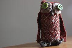 knitting pattern owl