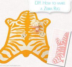 how-to-make-zebra-rug-felt