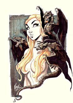 Daenerys Targaryen / Khaleesi commission by Martin Abel Comic Art