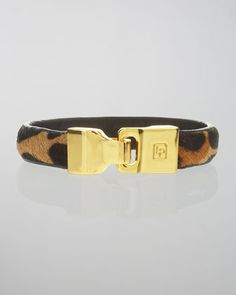 Calf Hair Leather Bangle by Linea Pelle at Neiman Marcus.------ Fur is really big for the fall.  I will be making fur bangles from mink.