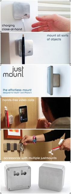 JustMount is a square box made from aircraft-grade aluminum