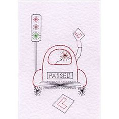 Stitching Cards Driving Test Pass