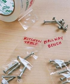33+ Helpful Moving Tips Everyone Should Know ~ Tape loose screws and bolts to the back of furniture that has to be taken apart! Easy to find and put back together.