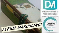 TUTORIAL SCRAPBOOKING. ÁLBUM MASCULINO