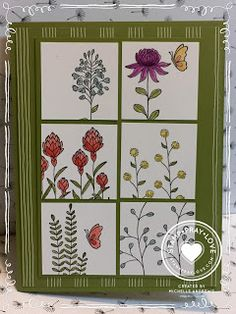 by Michelle: Flowering Fields & Wildflower Fields dsp (both SAB) - all from Stampin' Up!