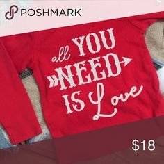 VALENTINES DAY TOP Any size and any color Tops Tees - Long Sleeve