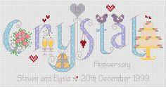 Crystal Anniversary Cross Stitch Kit