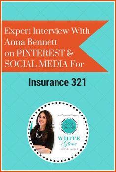 #PinterestExpert shares how to build a presence on Pinterest. CLICK HERE to read the full article http://blog.insurance321.com/expert-interview-anna-cadiz-bennett-pinterest-social-media-insurance-321/ #PinterestTips #PinterestForBusiness