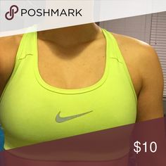 Nike Sports Bra XS Soft and comfortable. Fairly Used but still in good condition! Good color to have to bring out your tan. Nike Intimates & Sleepwear Bras