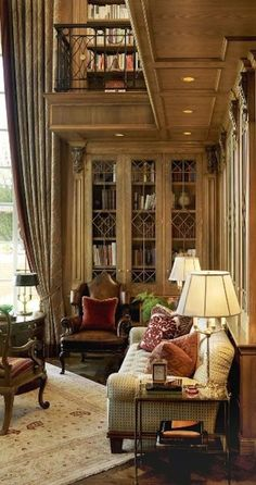Trendy Home Library Decor Glass Doors Home Library Decor, Home Libraries, Home Decor, Library Ideas, English Manor Houses, English House, Beautiful Interiors, Beautiful Homes, Beautiful Space