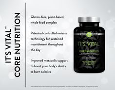 Looking for the best vitamin? Get the core nutrients you need right when your body needs them with the cutting edge ingredients of It's Vital Core Nutrition Formula. This plant-based, whole-food multivitamin supplies the essential antioxidants, phytonutrients, and vitamins you need throughout the day with controlled-release technology, giving you sustained nourishment for up to 12 hours. It's core nutrition for your best health!  www.wrappingirls.com