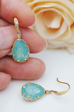 Why am I always drawn to this color? Turquoise. Love it!! I really really want these!
